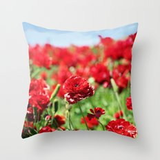 Scarlet Field Throw Pillow
