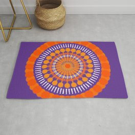 Rough Orange Mandala Rug
