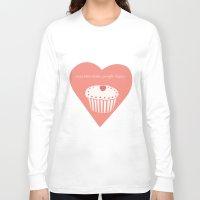 cupcakes Long Sleeve T-shirts featuring Cupcakes by Sadhana Srinivasan
