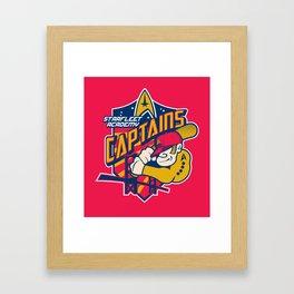 Starfleet Academy Captains Baseball Framed Art Print