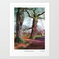 Sherwood Forest. Painted by Gordon Joy Art Print