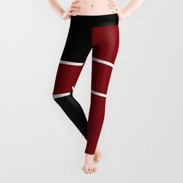 Team Color 6...Maroon,black Leggings