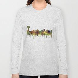 Knoxville Tennessee Skyline - Safari Buff Long Sleeve T-shirt