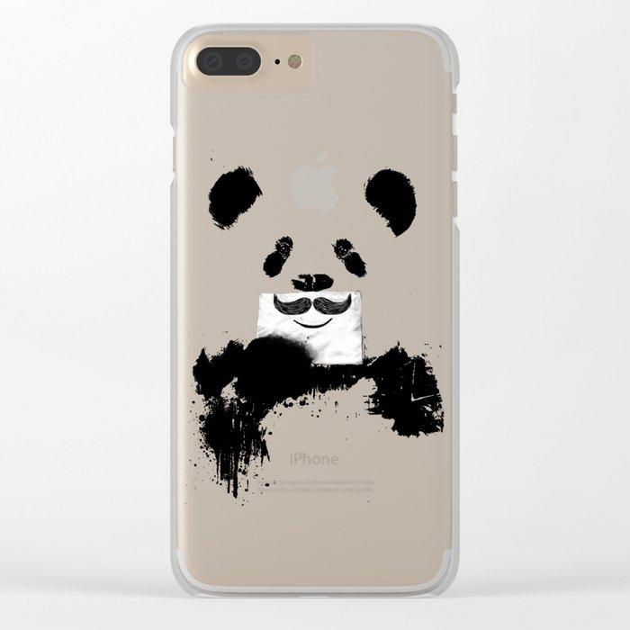 Funny panda Clear iPhone Case