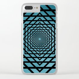 Eternally Blue Clear iPhone Case