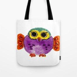 Chouette colorée Tote Bag