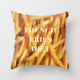 French Fries Diet Throw Pillow