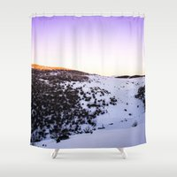 snow Shower Curtains featuring Snow by Michelle McConnell