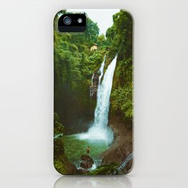 The Valley's Waterfall (Color) iPhone Case
