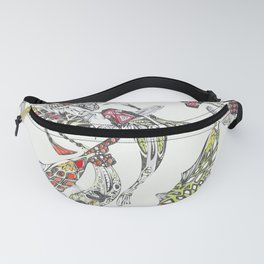 lucky koi off white Fanny Pack