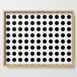 Simply Polka Dots in Midnight Black Serving Tray