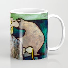 """Henri de Toulouse-Lautrec """"Papa Chrysanthème at the New Circus"""" stained glass Coffee Mug"""