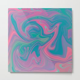 Acid marble dream Metal Print