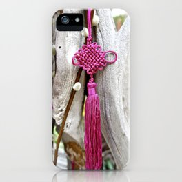 Chinese Knot (Magenta) iPhone Case