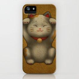 maneki-neko | Lucky Cat (White) iPhone Case