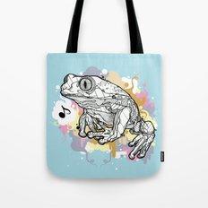 Melodic Frog Tote Bag