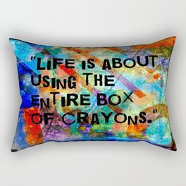 Crayon Box Collage Rectangular Pillow