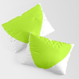 Neon Green Heart Pillow Sham