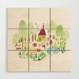 House in the Forest Wood Wall Art