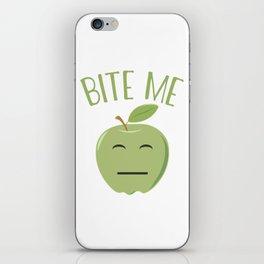 Cool Emoticon Bite Me Apple iPhone Skin