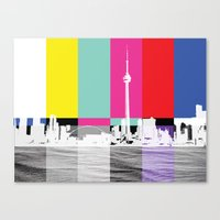 toronto Canvas Prints featuring Toronto by Shazia Ahmad