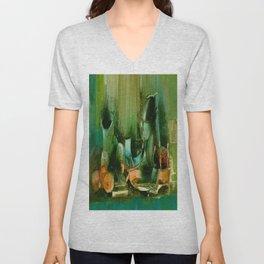 Abstract Oil painting Still Life Unisex V-Neck