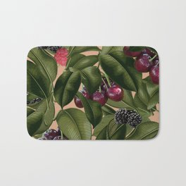 FRUITS AND LEAVES Bath Mat
