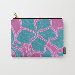 Kailua Hibiscus Hawaiian Sketchy Floral Design Carry-All Pouch