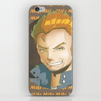 mike wrobel iPhone & iPod Skins featuring Mike  by EY Cartoons
