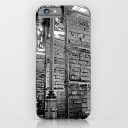 A Book Lover's Dream - Cincinnati Public Library black and white photographs / black and white photo iPhone Case