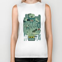 ghostbusters Biker Tanks featuring Ghostbusters by Ale Giorgini