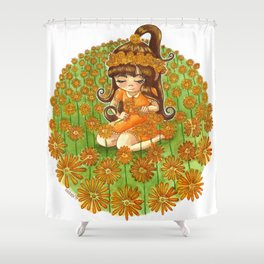 Crowns dying in the sky Shower Curtain