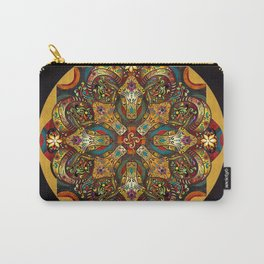 Mandala Sacred Rams - Dark Version Carry-All Pouch