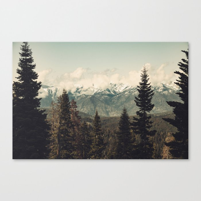 Snow capped Sierras Canvas Print