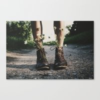 shoes Canvas Prints featuring shoes by brittneypanda