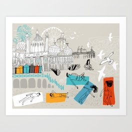 Brighton UK Art Print