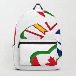 St Patrick Day Shamrock Newfoundland Canada Ireland Backpack