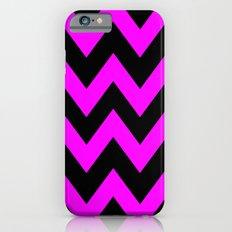 Black & Pink Chevron Lines  Slim Case iPhone 6s