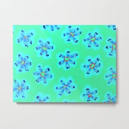 Periwinkle Emily Claire Metal Print