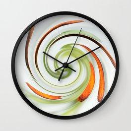 Lily stamen twirled Wall Clock