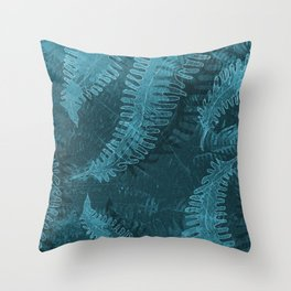 Ferns (light) abstract design Throw Pillow