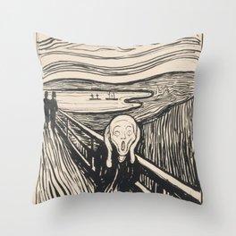 The Scream (1895) by Edvard Munch Throw Pillow