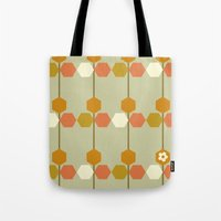 hexagon Tote Bags featuring Hexagon by clare nicolson