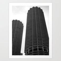 Chicago Marina Towers Art Print