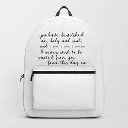 Pride and Prejudice Backpack