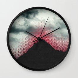 erosion Wall Clock