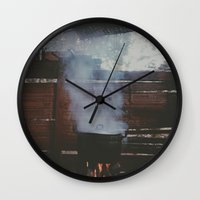cooking Wall Clocks featuring Home cooking  by Chase Hunter