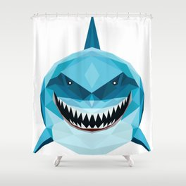 shark blue Shower Curtain