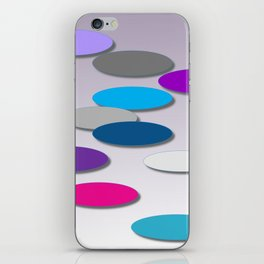 Cool Colors - Large Ovals - Digial Design - Pretty Colors iPhone Skin