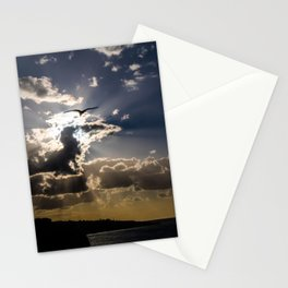 Seagull at sunset Stationery Cards